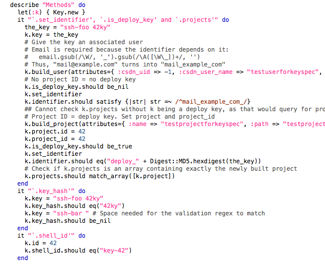 Partial code of a unit test for CSDN's CODE