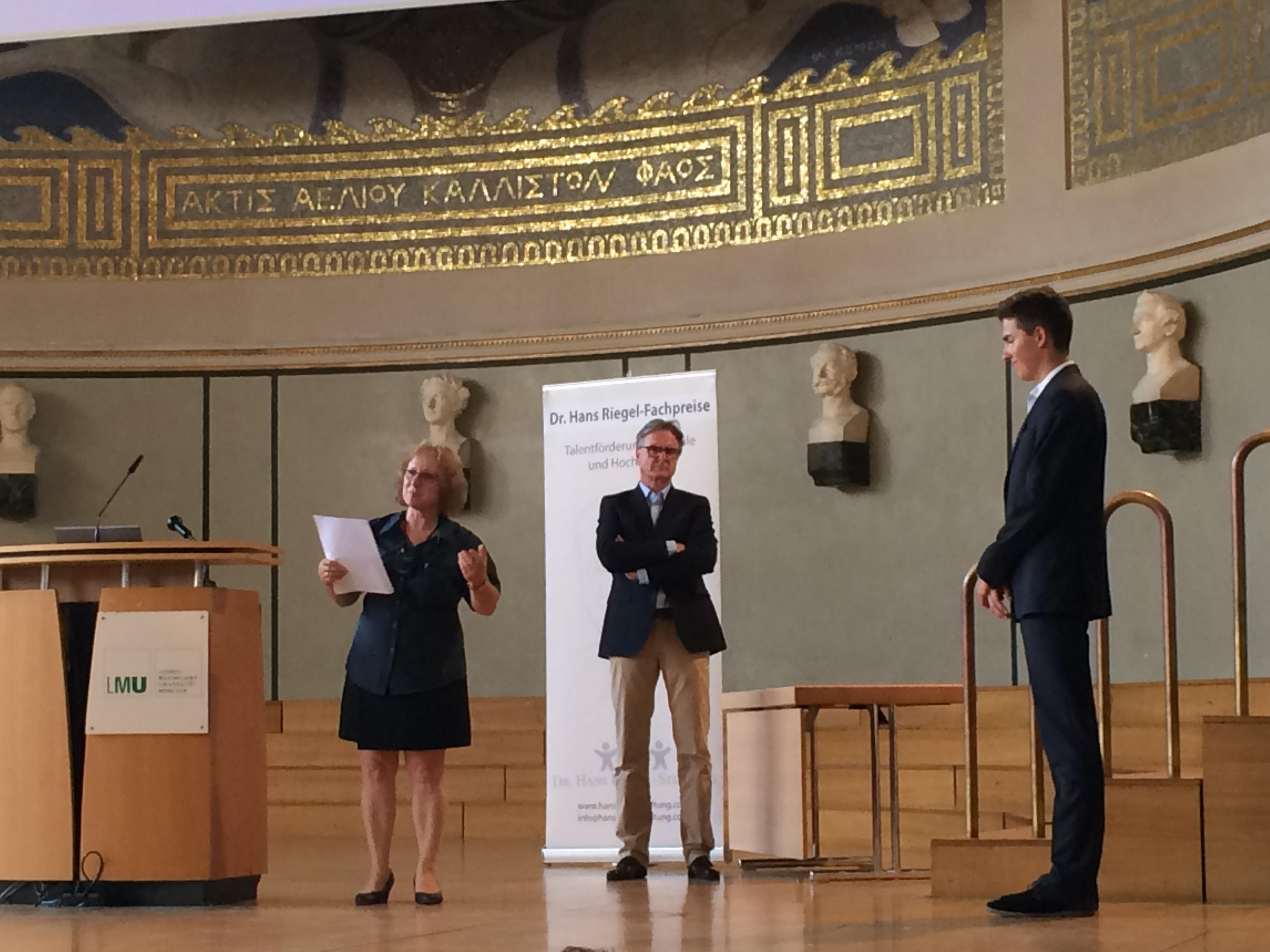 Dr. Hans Riegel-Fachpreis: Moritz Kleybolte